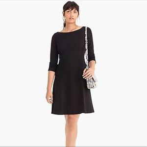 J.Crew NWT Black Fit And Flare Sheath Dress